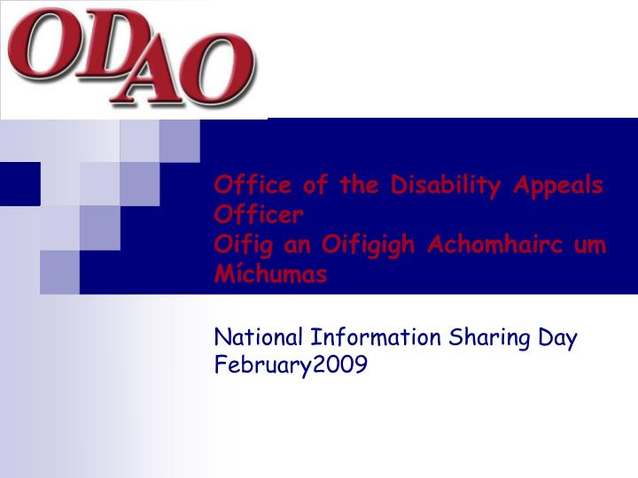 Office of the Disability Appeals Officer