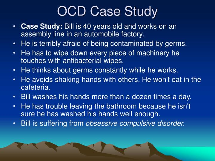 a case study of obsessive impulsive Obsessive-compulsive disorder essay obsessive-compulsive disorder abstract obsessive compulsive disorder, ocd, is an anxiety disorder that causes unwanted and intrusive thoughts or feelings that cause an individual to feel driven to do something.