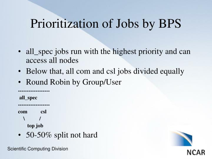 all_spec jobs run with the highest priority and can access all nodes
