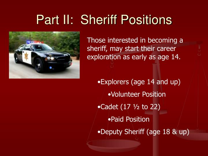 Part II:  Sheriff Positions
