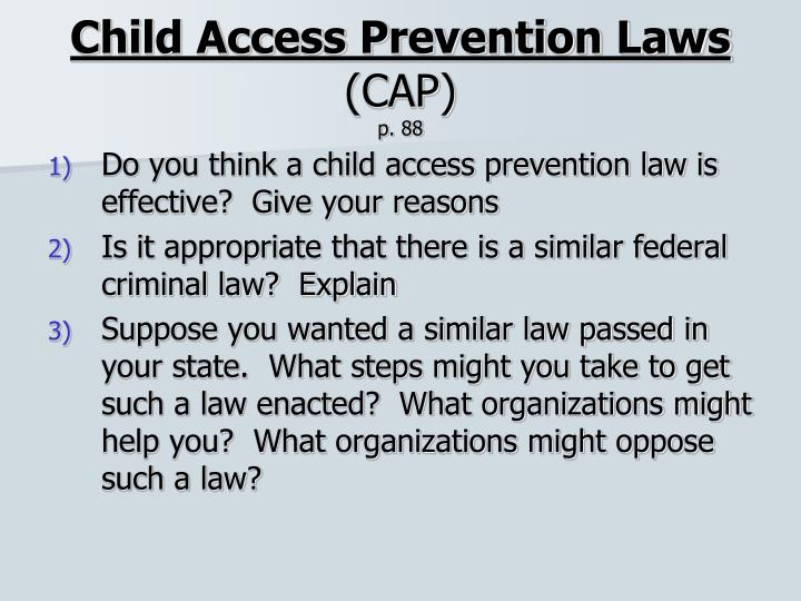 Child Access Prevention Laws