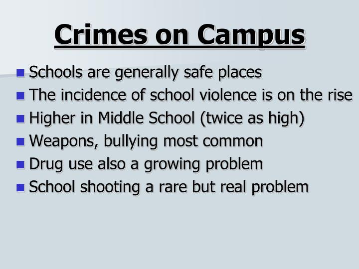 Crimes on Campus