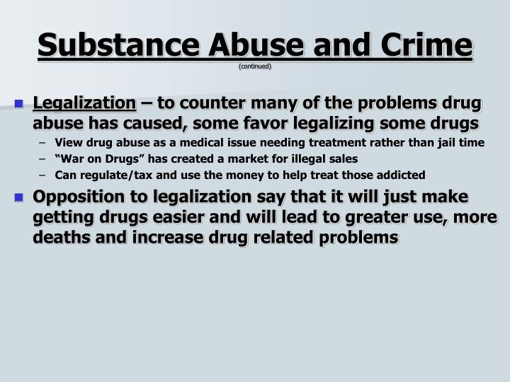 Substance Abuse and Crime