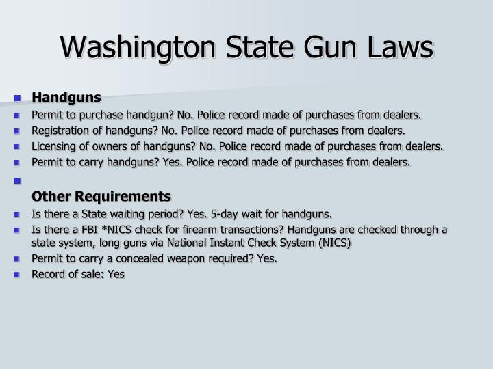 Washington State Gun Laws