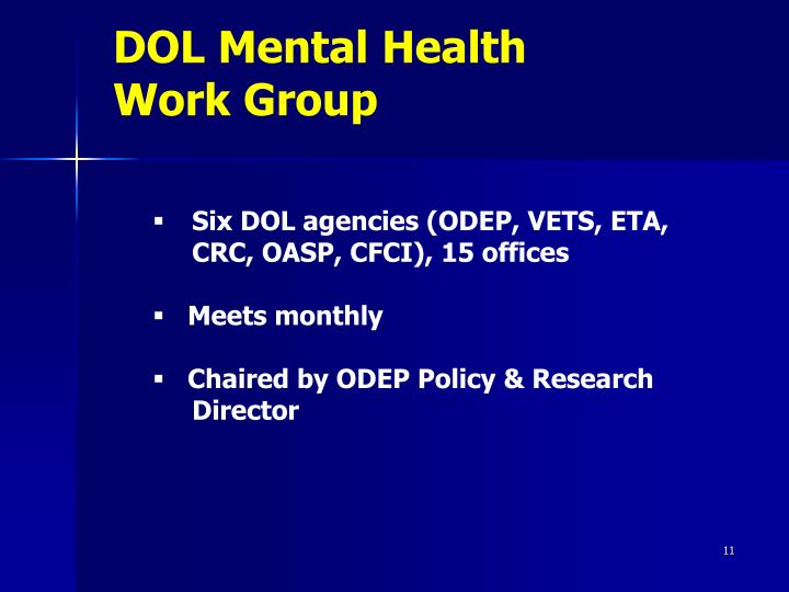 DOL Mental Health