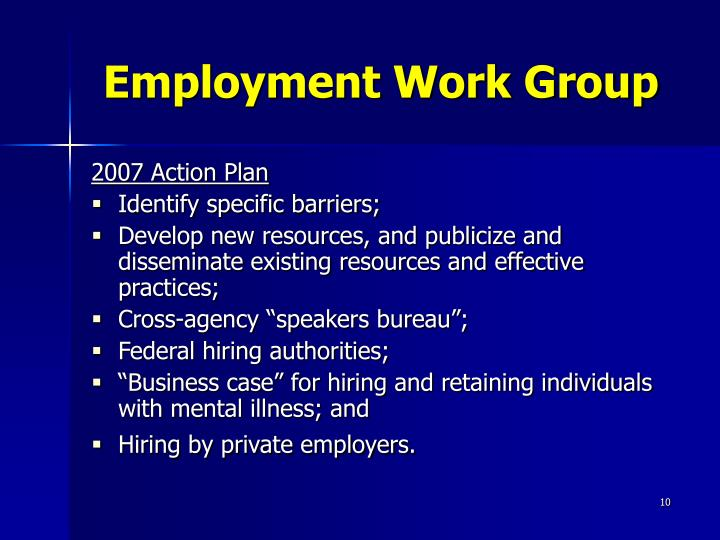 Employment Work Group