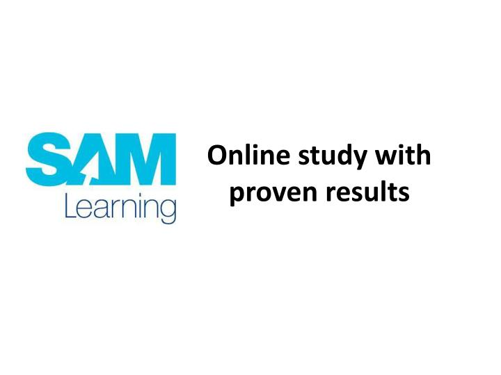online study with proven results n.