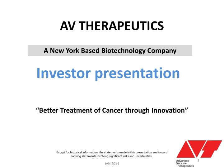 Av therapeutics