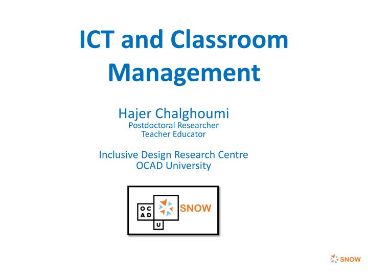 ict and classroom management n.