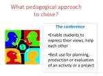 what pedagogical approach to chose5