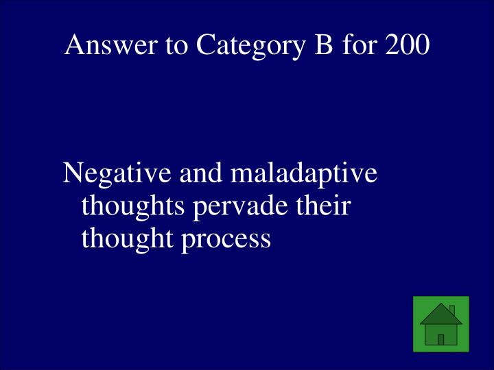 Answer to Category B for 200