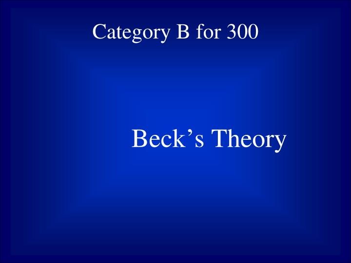 Category B for 300