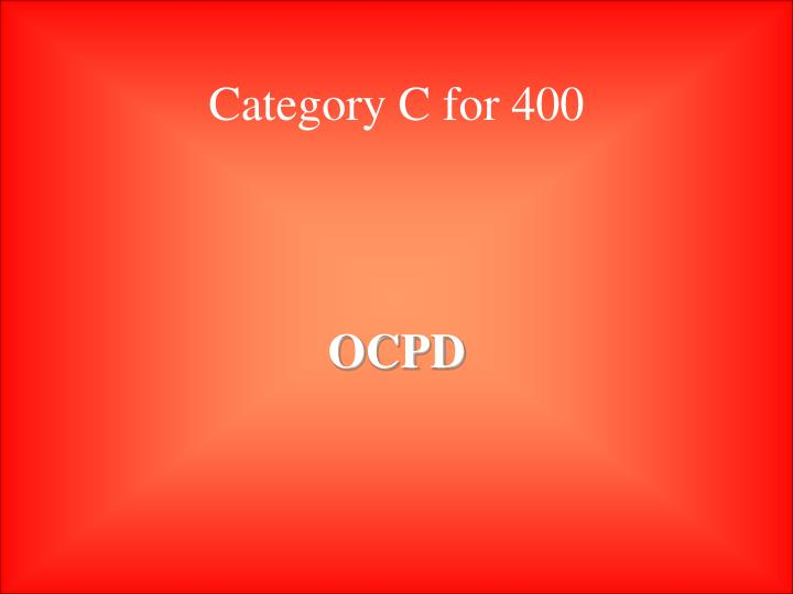 Category C for 400