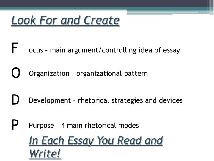 4 rhetorical modes