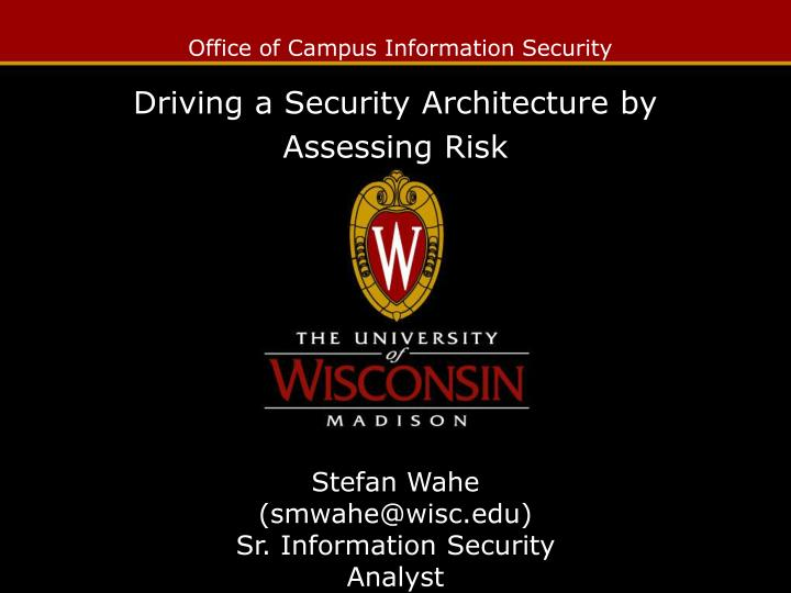 Office of campus information security