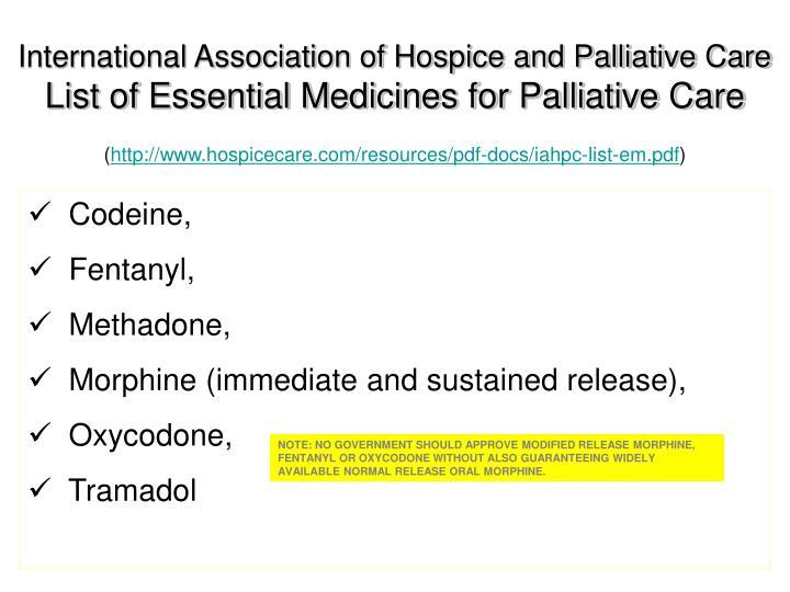 International Association of Hospice and Palliative Care