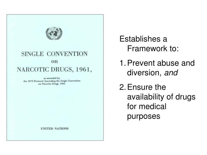 Establishes a Framework to: