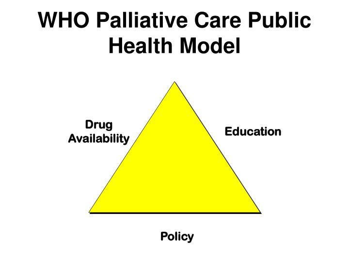 WHO Palliative Care Public Health Model