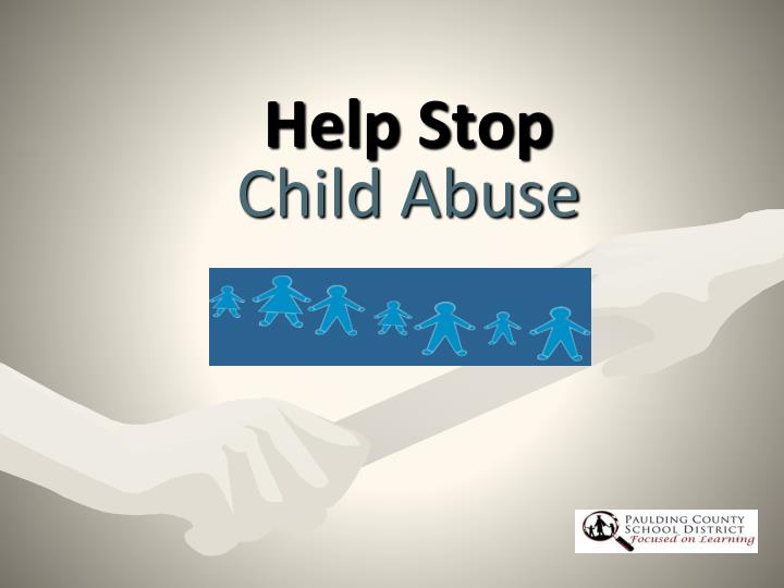 help stop child abuse n.
