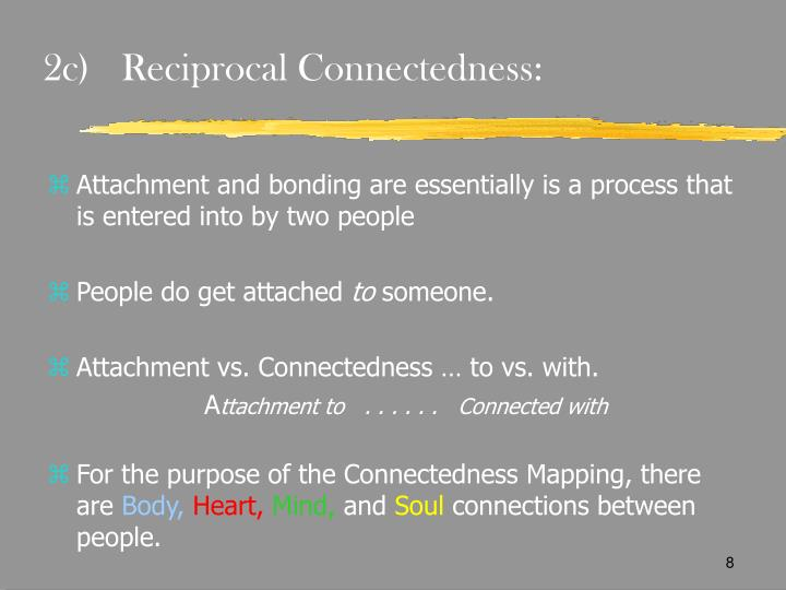 2c)	Reciprocal Connectedness: