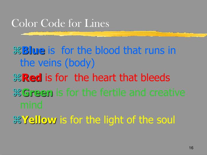 Color Code for Lines