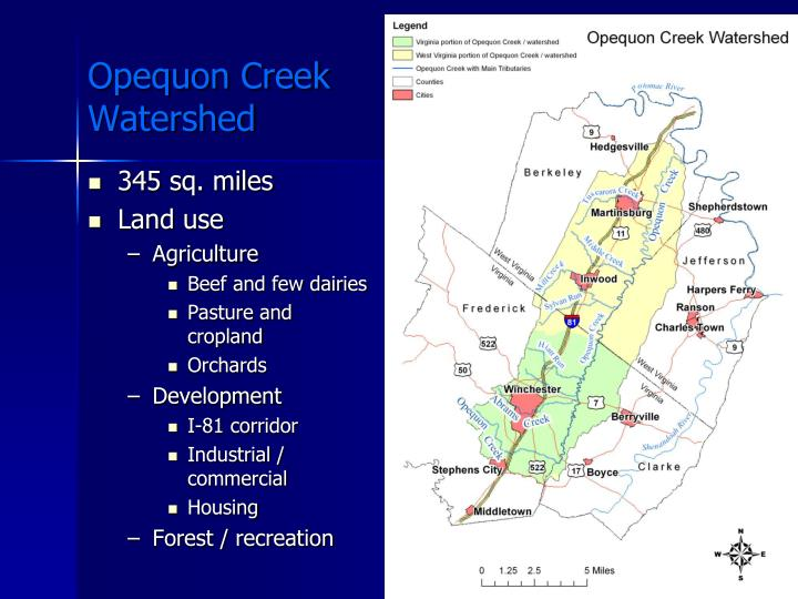 Opequon creek watershed