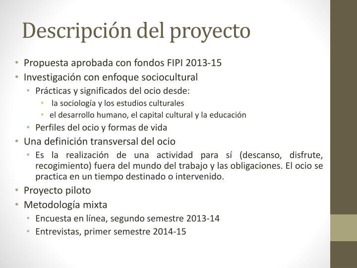 Descripci n del proyecto