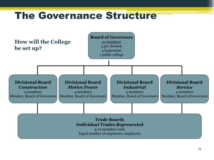The Governance Structure