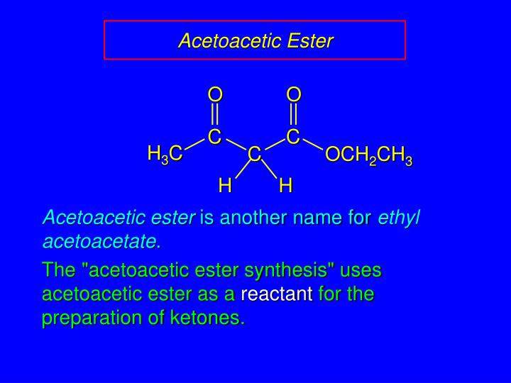 Acetoacetic ester