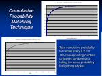 cumulative probability matching technique