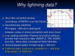 why lightning data