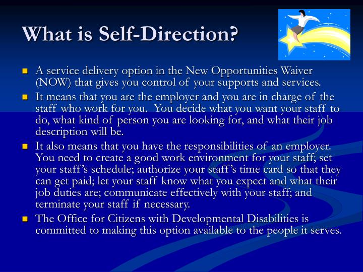 What is self direction