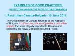 1 restitution canada bulgaria 10 june 2011