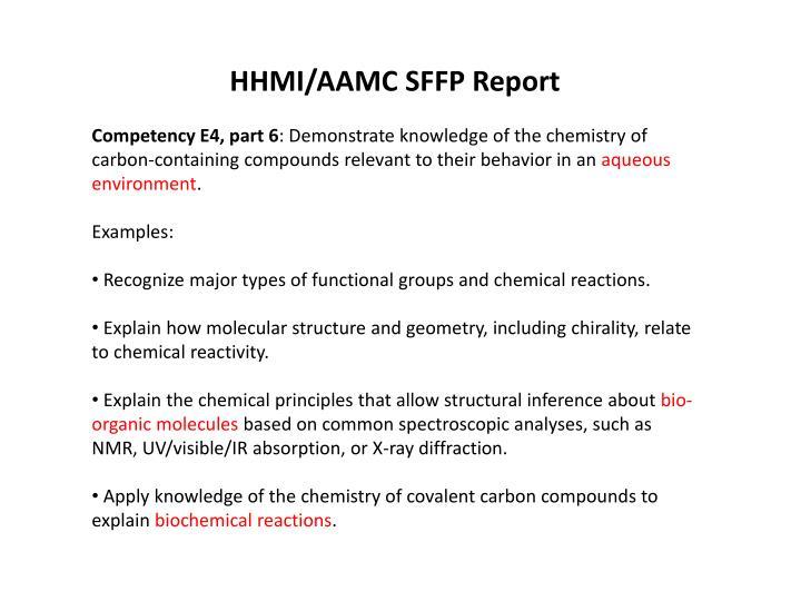HHMI/AAMC SFFP Report
