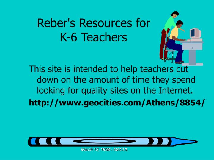 Reber's Resources for