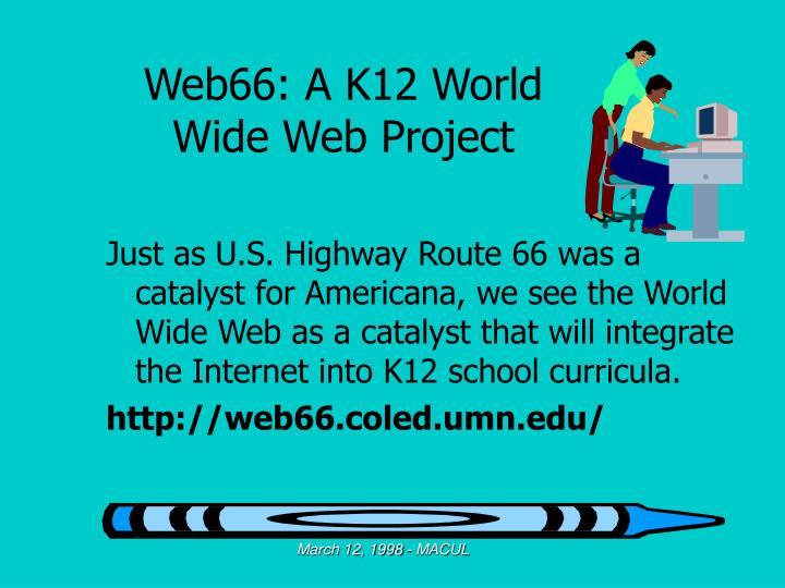 Web66: A K12 World Wide Web Project