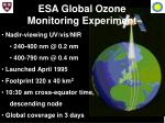 esa global ozone monitoring experiment