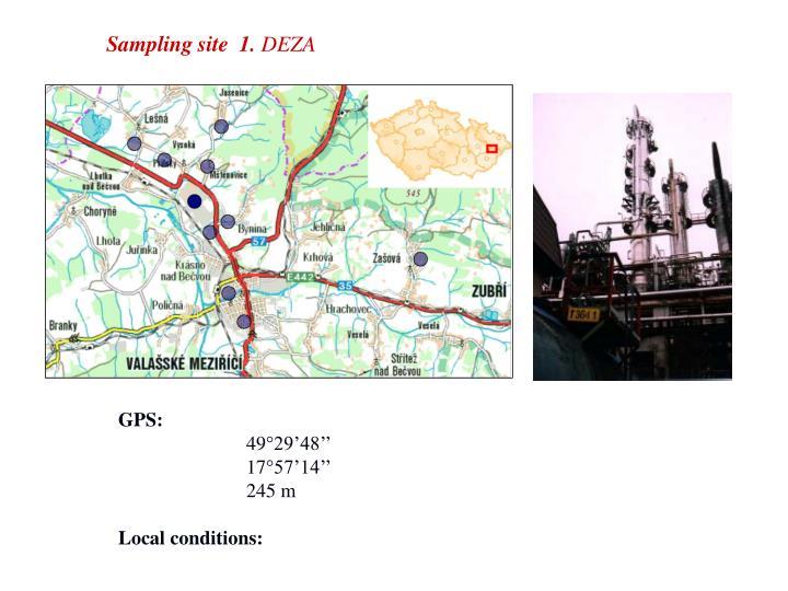 Sampling site
