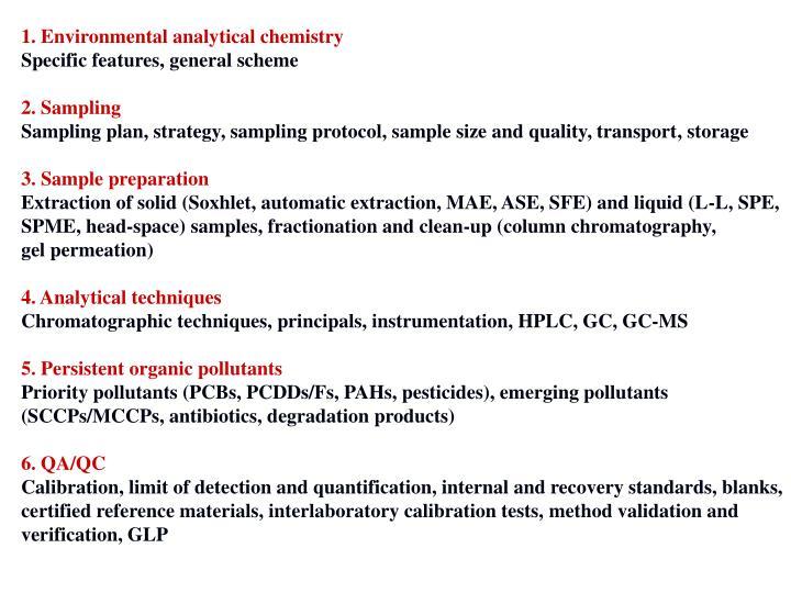 1. Environmental analytical chemistry