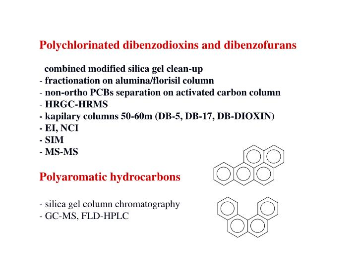 Polychlorinated dibenzodioxins and dibenzofurans