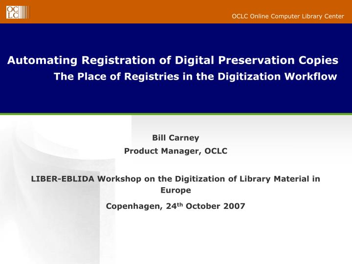 digitization of library materials Digitization of library collection in developing libraries embark on the digitization of their materials for various reasons digitization makes library's.