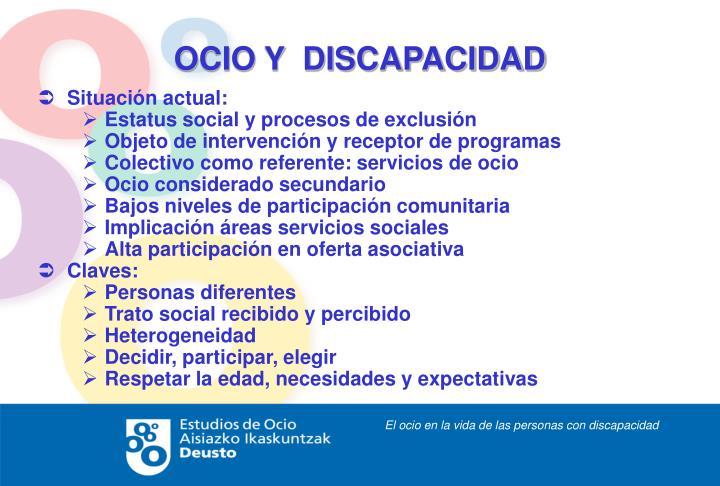 OCIO Y  DISCAPACIDAD