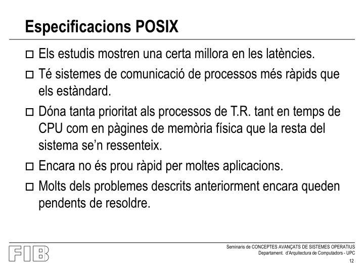 Especificacions POSIX