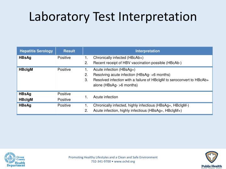 Laboratory Test Interpretation