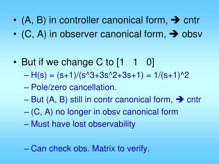 (A, B) in controller canonical form,