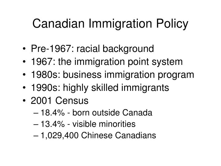 Canadian immigration policy