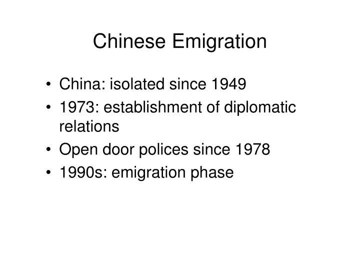 Chinese Emigration