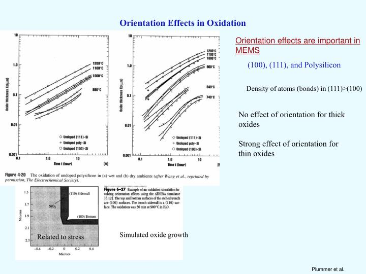 Orientation Effects in Oxidation