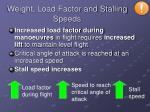 weight load factor and stalling speeds1