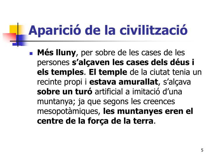 Aparició de la civilització
